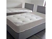 ⚡️⚡️⚡️Supreme Quality⚡️⚡️⚡️ BRAND NEW DOUBLE DIVAN BED BASE WITH SEMI ORTHOPEDIC MATTRESS
