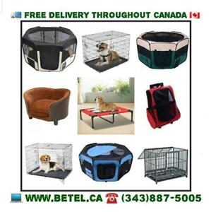Free Delivery | Dog Puppy Cages Soft Crates Playpens Carriers and Accessories - $49 & Up