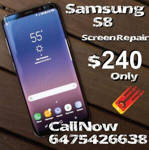 FLASH SALE! On The Spot - We fix Cracked Screens for Samsung Galaxy S8 Plus S8,S7,S6 Edge, S6, S5 & Note 3,4,5