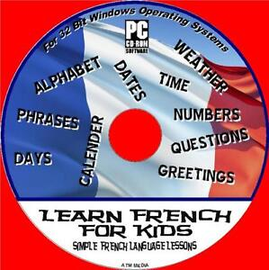 FRENCH FOR KIDS EASY CHILDRENS LANGUAGE LESSONS INTERACTIVE CD ROM SOFTWARE NEW