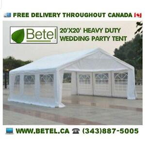 Sale | 20x20 Large Heavy Duty Wedding Party Canopy Tent on Steel Frame - 20 x 20 Sale