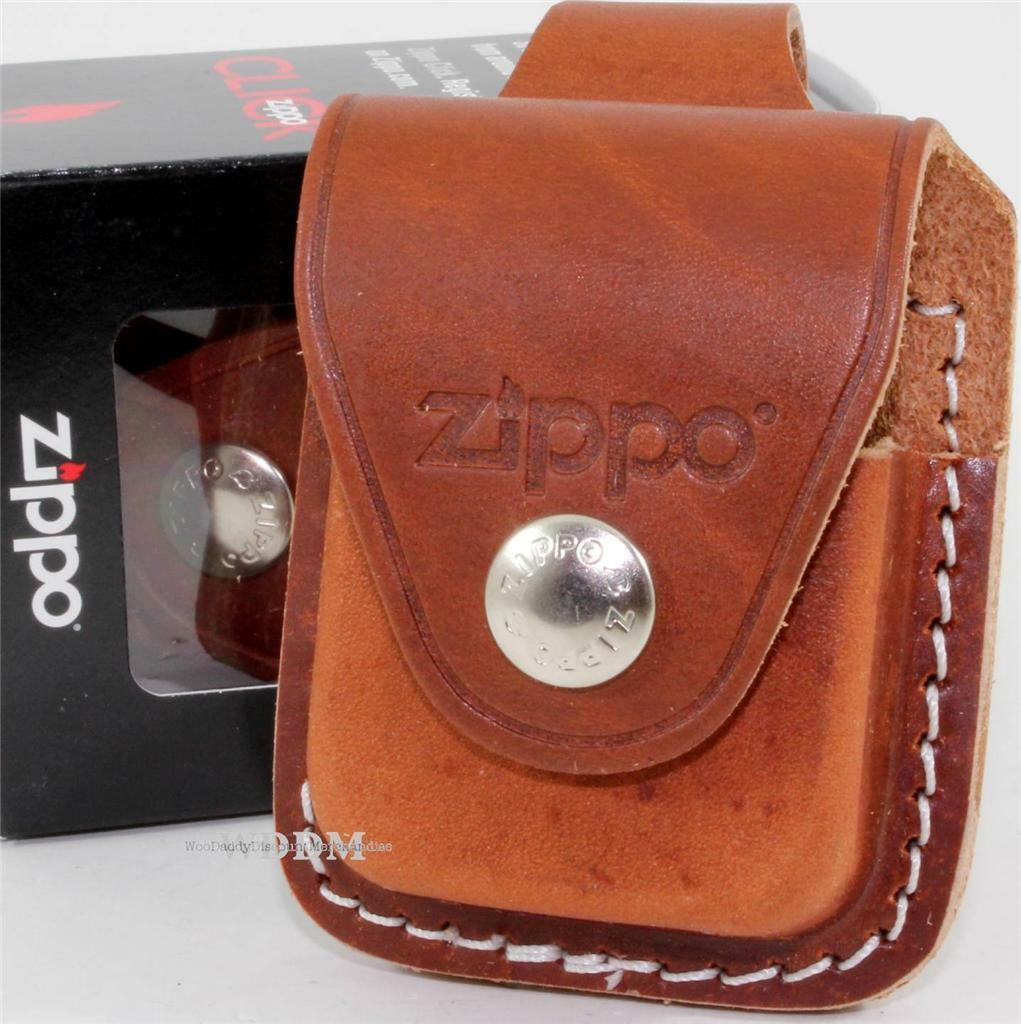 Zippo Brown Leather Lighter Pouch/Case/Holder Belt Loop Shea