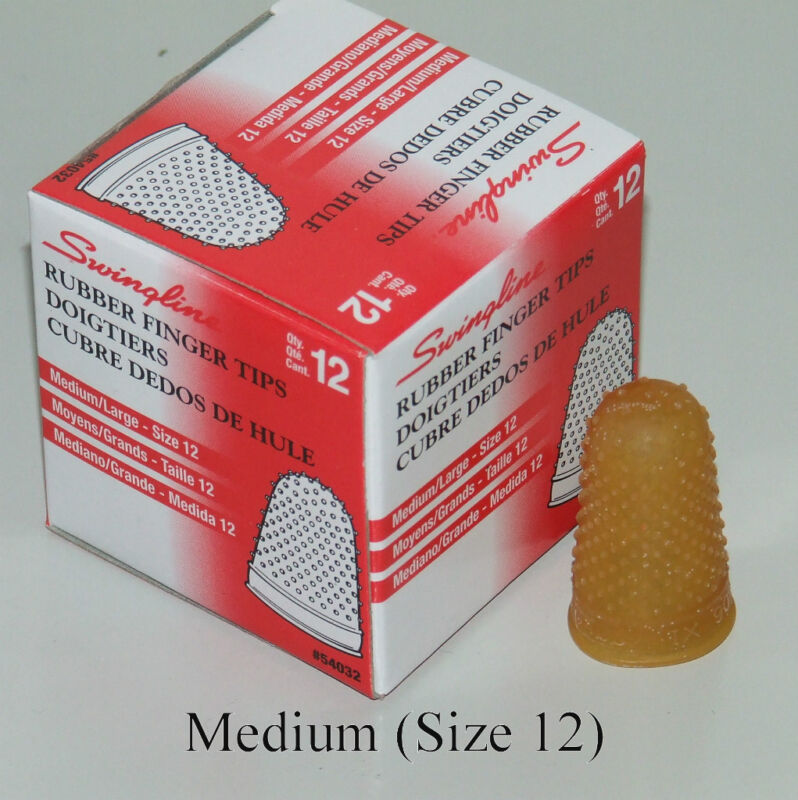 Rubber Finger Tips(Thimbles),Size-12 (Medium),Qty=12