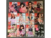 12 x Red Magazine issues Dec 2014 - Nov 2015 Fashion Beauty Health Lifestyle Interiors Travel Food