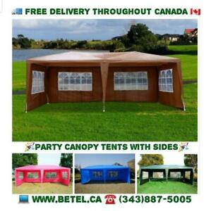 Brand New 10x20 ft Wedding Party Canopy Gazebo Tents | FREE Delivery!! - Party Tent Sale Brown Blue Pink Green White