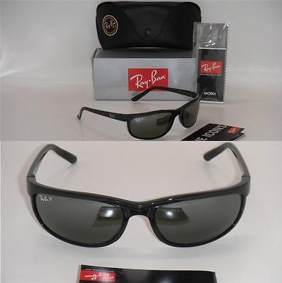 ray ban predator 2 polarized sunglasses rb 601 w1  ray ban 2027 rb2027 601/w1 62mm predator 2 shiny black / polarized grey mirror