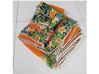 Orange floral Saree