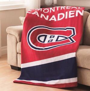 40% DE RABAIS! Couverture Chauffante Sunbeam Des Canadiens De Montréal