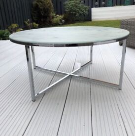 Glass Marble effect coffee table
