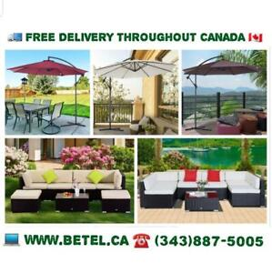 FREE DELIVERY | Garden Patio Gazebos, Umbrellas, Bistro Furniture Sets - FREE Delivery - $129 & Up