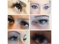 Natural or dramatic eyelash extensions individual or cluster