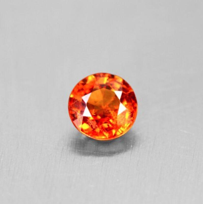 Natural Spessartite Orange Garnet Round Faceted Loose Stones (2mm - 3mm)