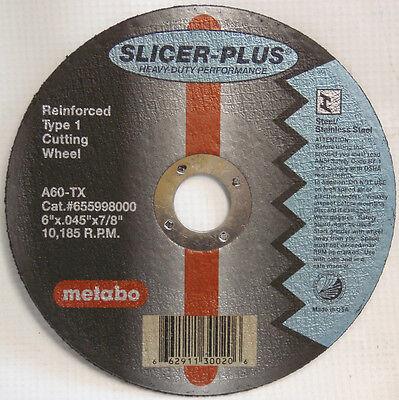 "Metabo 55.998 55998 6"" Slicer-Plus Cut-off Wheels-Box of 50 655998000"