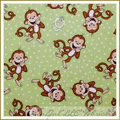 Monkey fabric ebay for Baby monkey fabric prints