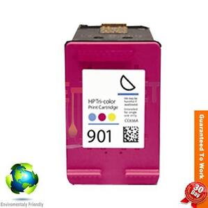 1 Pack HP 901 Remanufactured Color Ink Cartridge (CC656AN CC656A CC656) Hp901