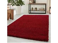 4) Brand new red thick shaggy rugs size 170 x 120 Cm carpet rugs £50