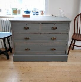 Edwardian Chest of Drawers. Antique chest of drawers. Vintage drawers. Painted drawers