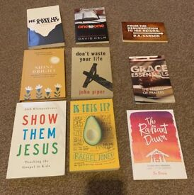 Variety of Christian books for sale