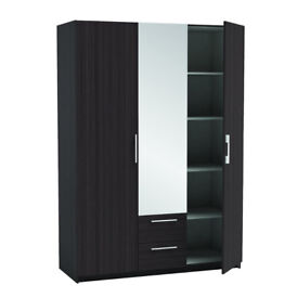 2/ 3dr wardrobes with mirror 5 only brand new factory packed LAST FEW 832AACDE