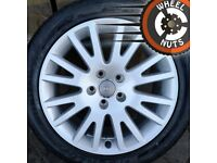 """17"""" Genuine Audi alloy Brand New with Brand New tyre."""