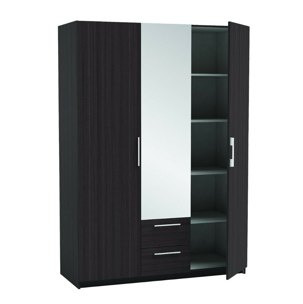 2/ 3dr wardrobes with mirror 5 only brand new factory packed LAST FEW 1UBCDUEABDC