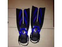 Scuba/snorkel fins with boots