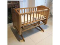 Wooden gliding crib/ cradle