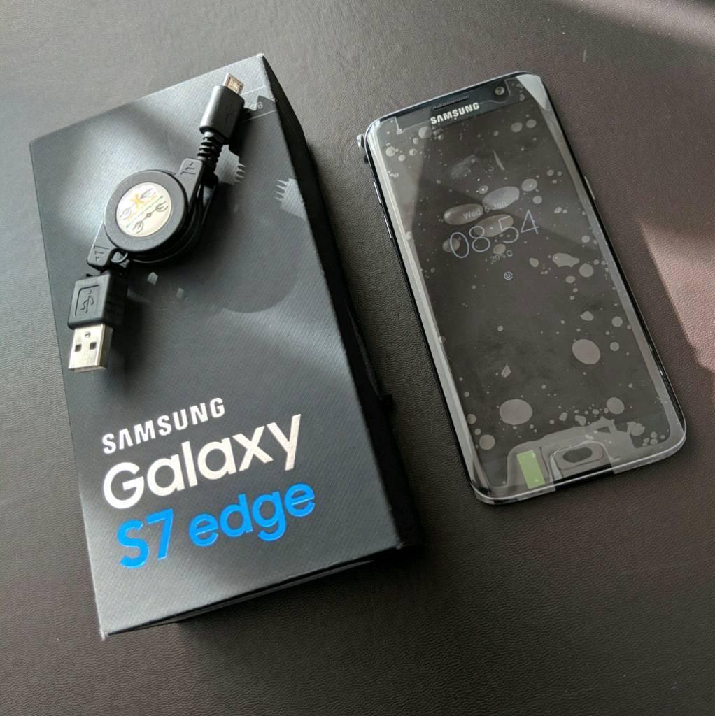 Samsung S7 Edge 32gb Refurbished As New Black Onyx Unlocked Sim Free