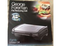 Brand new in box George Foreman 5 portion grill