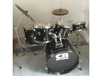 CB 5 Piece Drum Kit. Good condition. Clean and only 1 year old. Fully assembled.