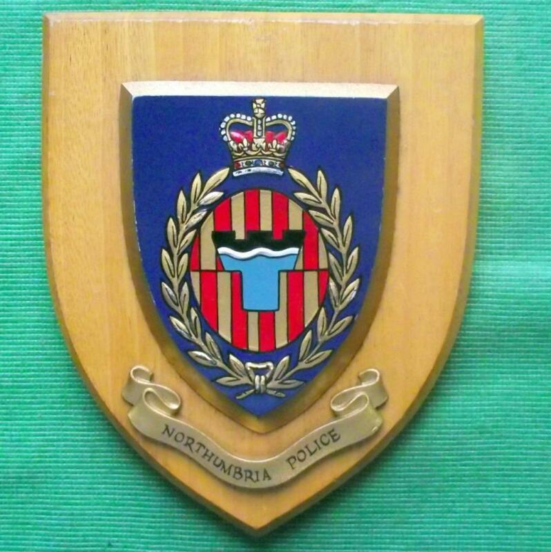 Obsolete Northumberland Northumbria Police Crest Plaque Shield