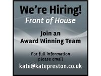Front of house job at award winning salon