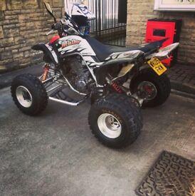 Yamaha raptor 660-2005 cracking bike.