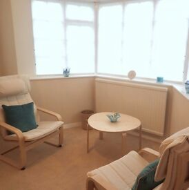 Beautiful, tranquil therapy room available for professional therapists.