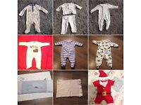 Bundle of Baby boy clothes - from newborn to 6-9 months. Some brand new with tags.