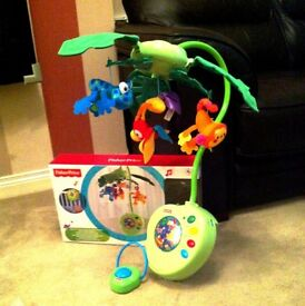 BRAND NEW IN BOX Fisher-price Rainforest Peek-a-boo Leaves Musical Mobile