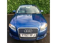 12 MONTHS MOT 2007 AUDI A4 SE 2.0 TDI 140 BHP 6 SPEED GEARBOX FULL SVCE HISTORY WITH TOW BAR