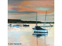 Mudeford harbour 12 x 12 inch Giclee limited edition print