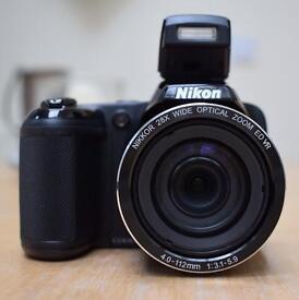Nikon Coolpix L340 20MP 28x Zoom Bridge Camera - Black
