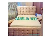 Amelia crushed velvet bed