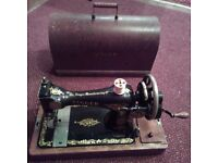 Singer sewing machine. Hand operated