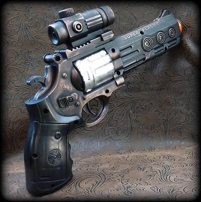 Steampunk cyber gothic GUN HOLSTER+BELT revolver pistol Victorian laser Toy MC01