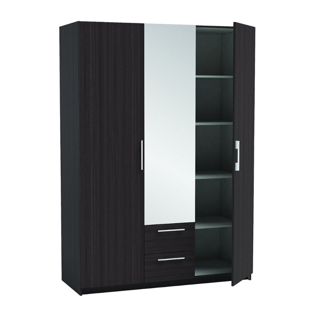 2/ 3dr wardrobes with mirror 5 only brand new factory packed LAST FEW 5421CUAEB