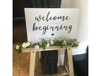 WEDDING SIGN EASEL/HOLDER/TRESLE