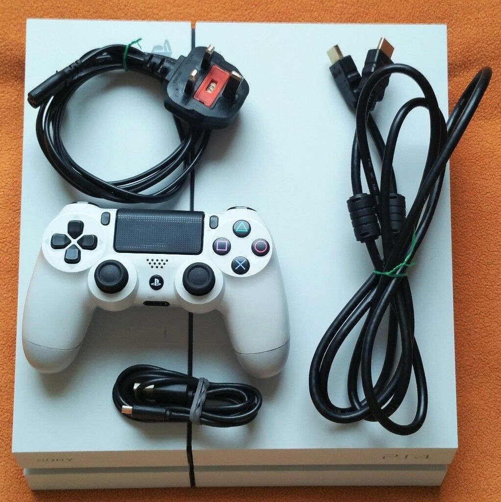 White PS4 White Sony Playstation 4 500GB With genuine white ...