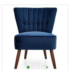 Brand new midnight blue cocktail chair