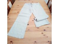 LADIES LINEN TROUSERS SIZE 10 - 3 pairs