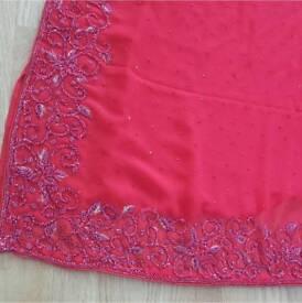 Red hot saree