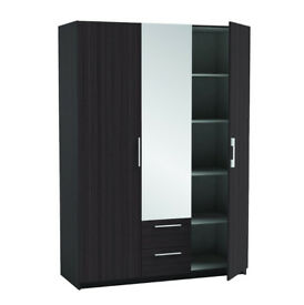 2/ 3dr wardrobes with mirror 5 only brand new factory packed LAST FEW 91084EUU
