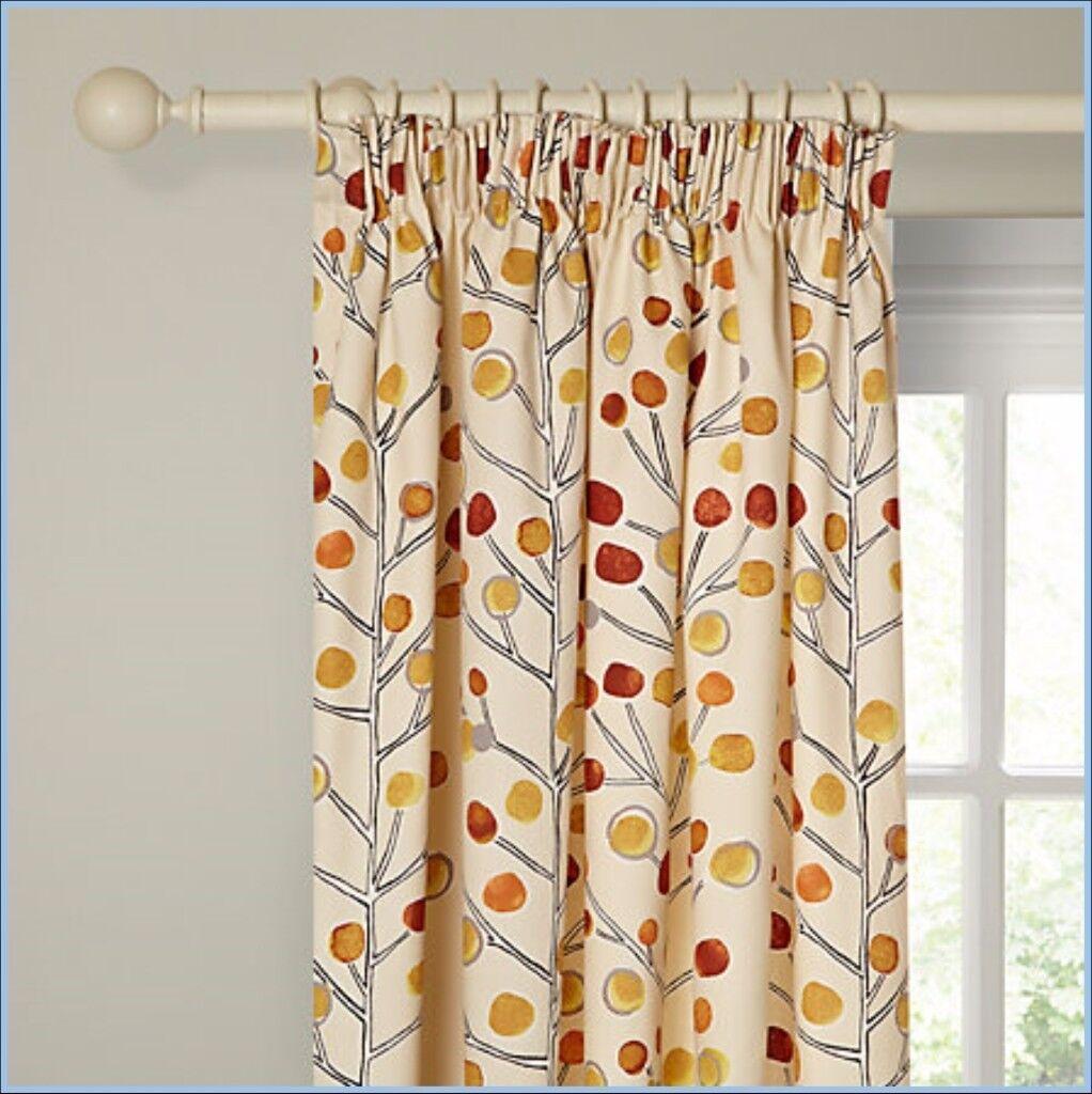 Brand New Scion Curtains John Lewis Berry Tree Orange Red Cream